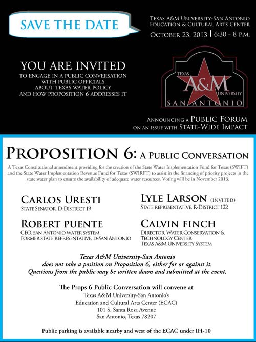 Proposition 6 discussion invite