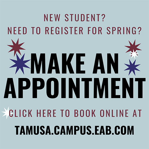 Button to schedule an advising appointment.