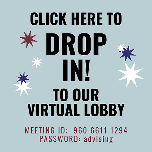 Button to join the virtual lobby and speak with an advisor