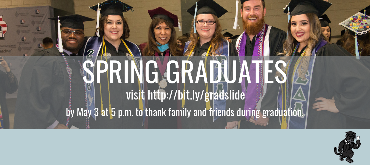 Spring Graduates - Don't forget to submit your thank you message for the Graduation slideshow. visit http://bit.ly/gradslide