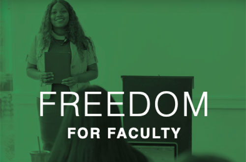 Learn more about Freedom for Faculty