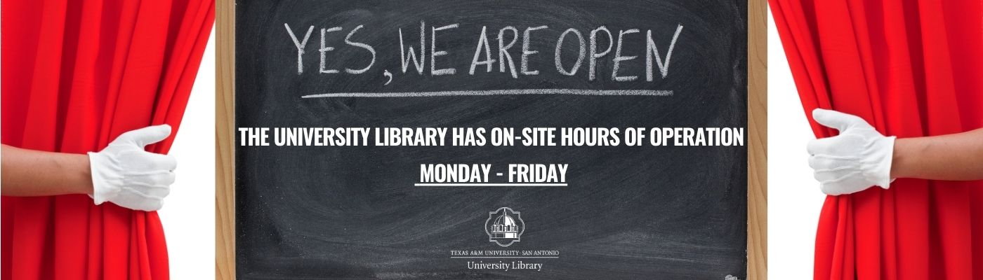 The Library has On-Site hours of operation!