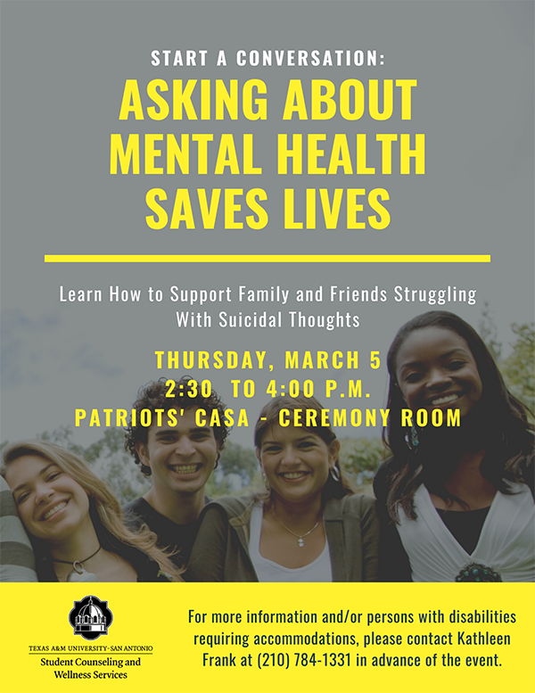 Asking About Mental Health Saves Lives
