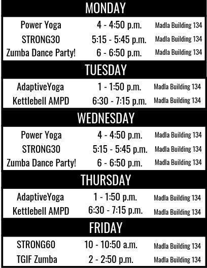 Jagfit schedule