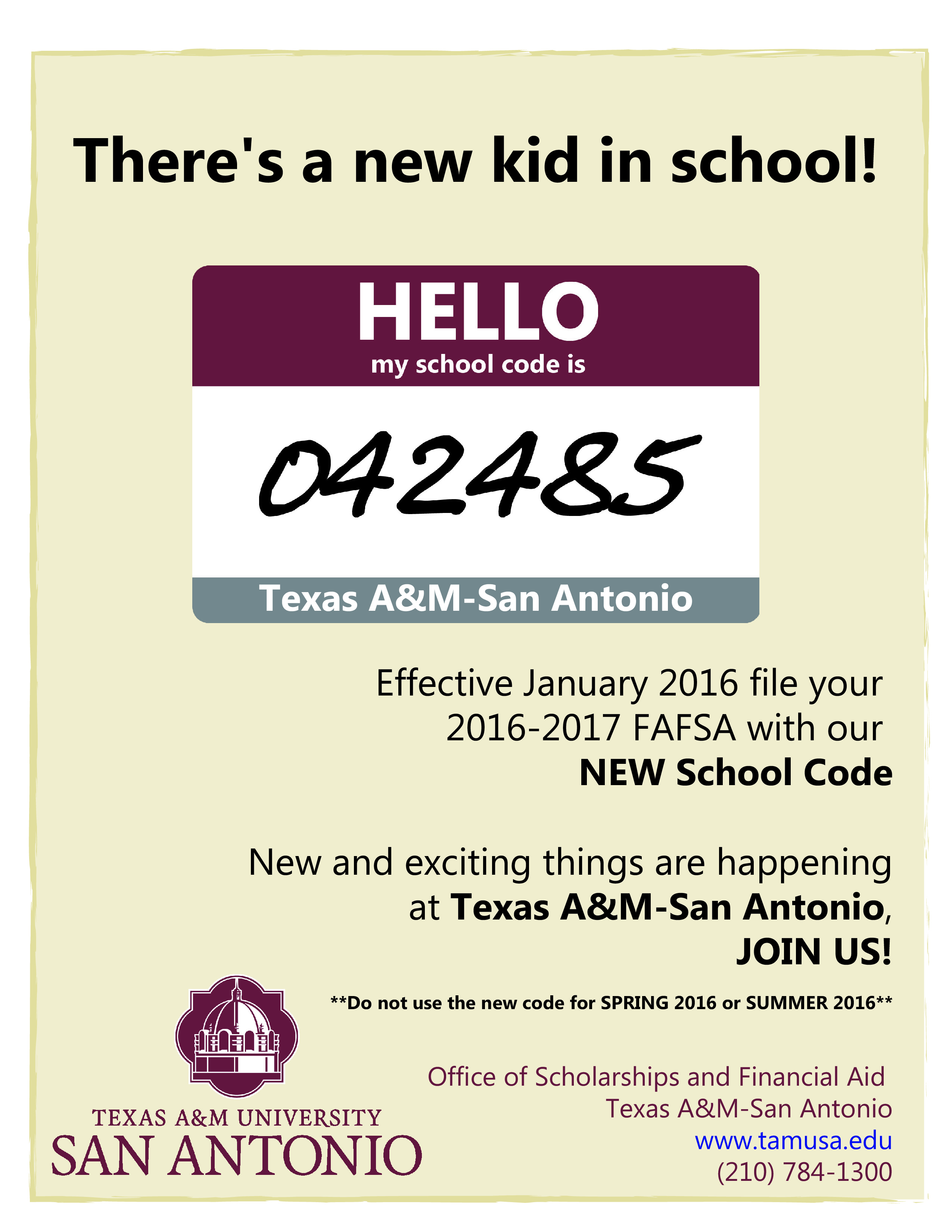 FAFSA School Code 042485