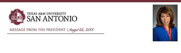 Message from the President - August 26, 2015