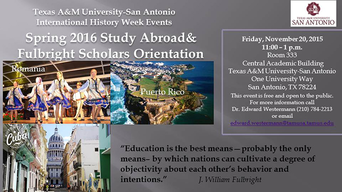 Spring 2016 Study Abroad & Fulbright Scholars Orientation