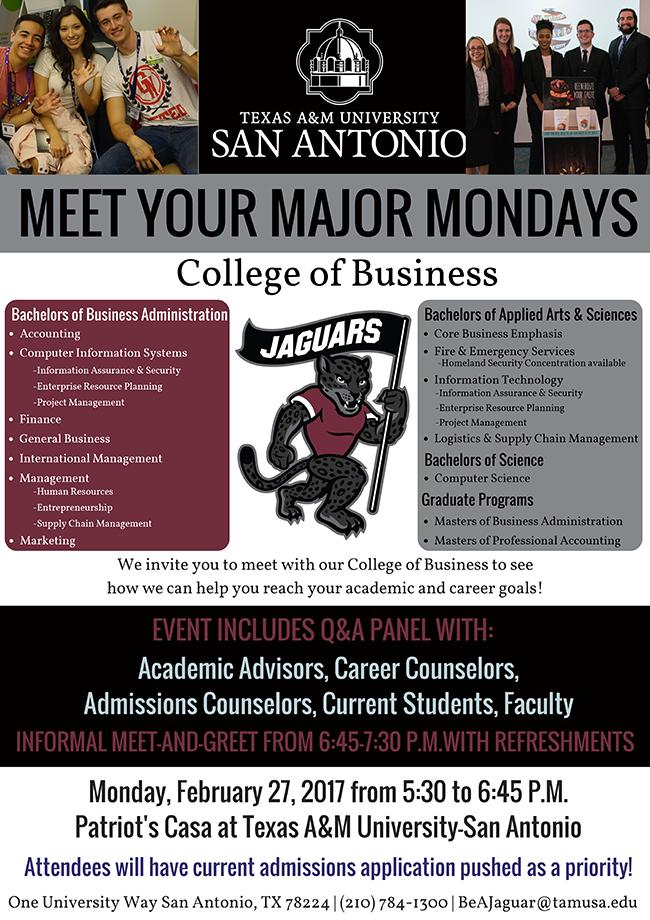 Meet your Major Mondays