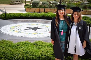 Mother Daughter Duo graduating