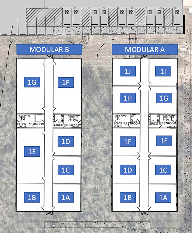 New Modular Classroom room numbers