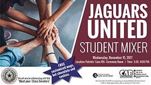 Jaguars United Student Mixed on November 15 at 5:30 at Patriots' Casa Ceremony room