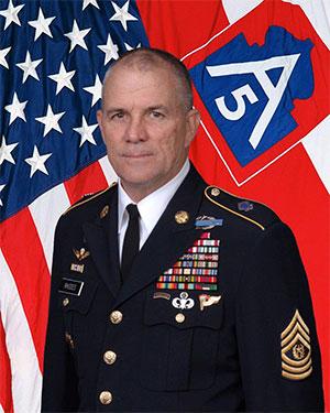 Command Sergeant Maj. Hu Rhodes U.S.A. (ret.)