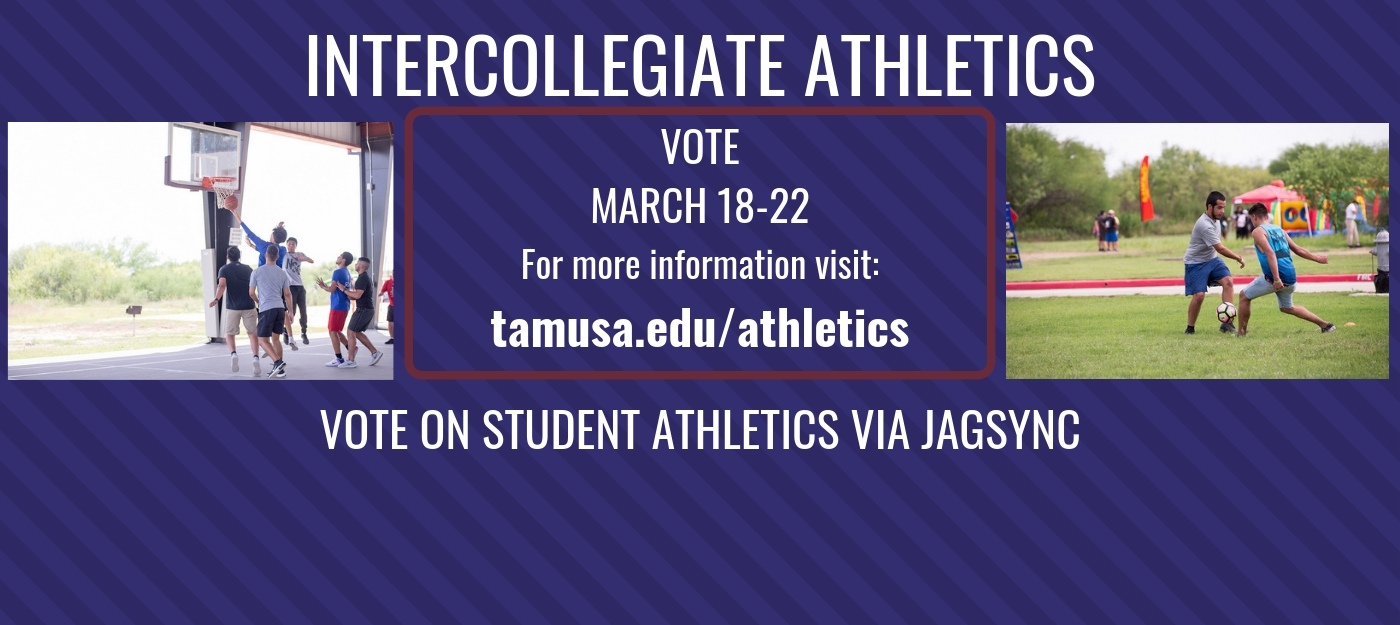 Visit the Athletics page for more information. http://www.tamusa.edu/athletics