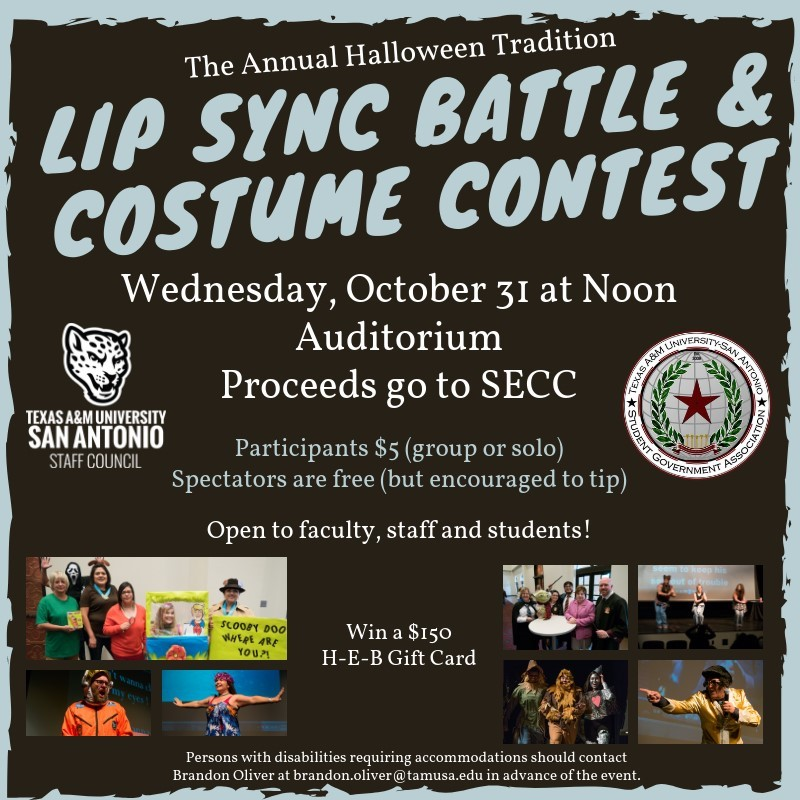 Lip Sync Battle and Halloween Costume Contest